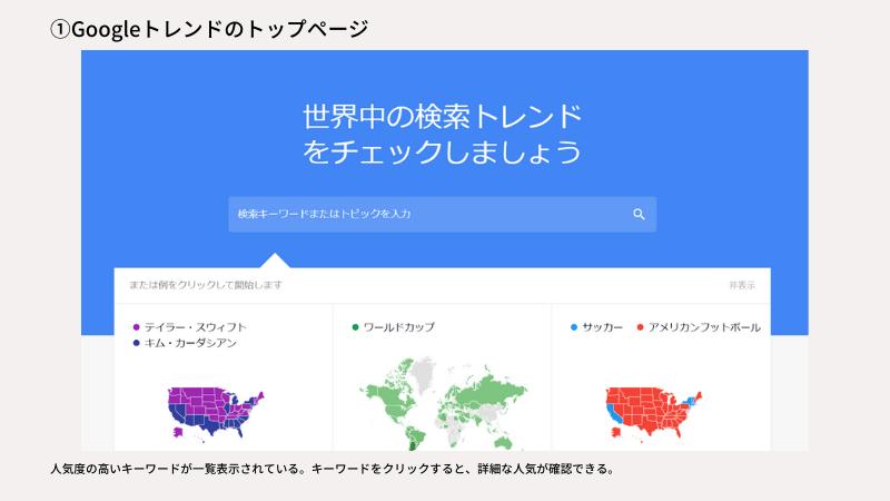 googleトレンドのトップ画像