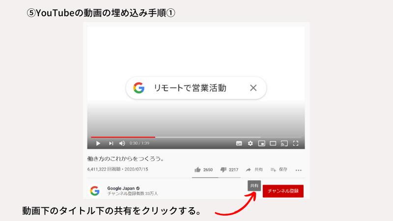 動画の埋め込み手順-1